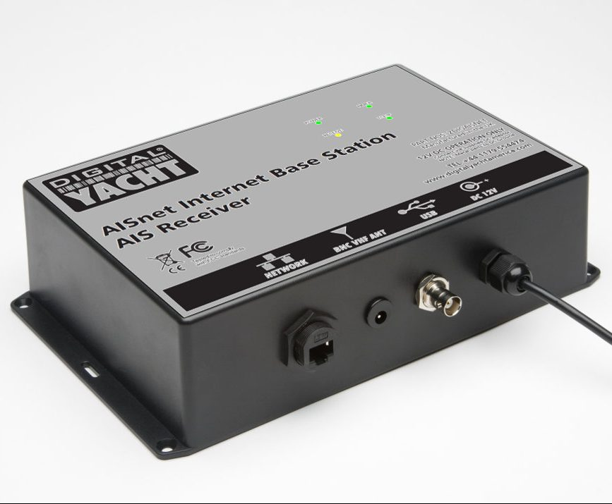 Network enabled AIS receiver for base station operation