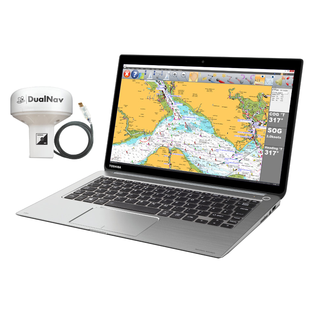 Smartertrack express is a marine navigation software with GPS antenna