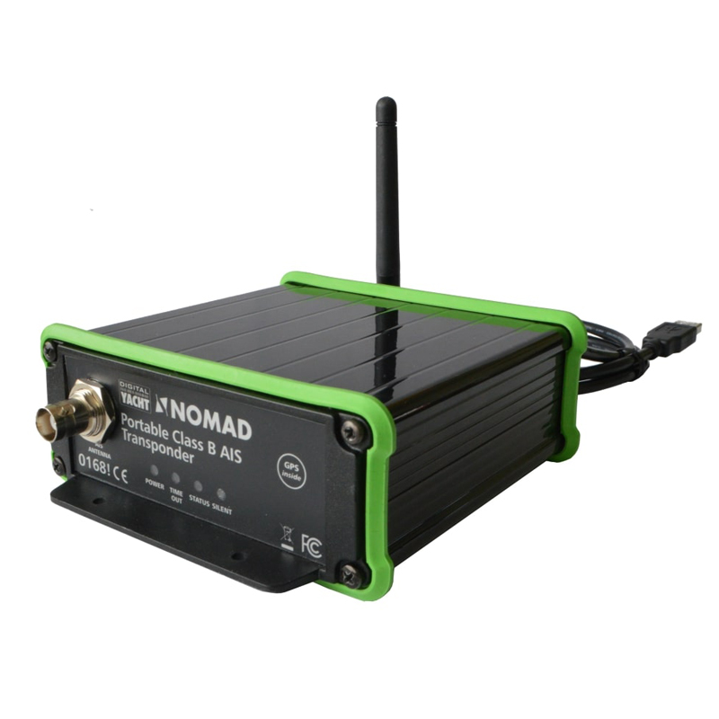 Nomad is a portable AIS transponder with built-in GPS